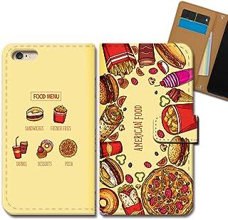OPPO Find X2 Pro OPG01 ケース 手帳型 食べ物 手帳ケース スマホケース カバー ハンバーガー 看板 ポテト ピザ E0349040113001