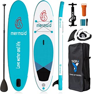 10'6'' Inflatable Stand Up Paddle Board,Sup Paddle Board with All Premium SUP Accessories & Adjustable Paddle,Fin, Leash, ...