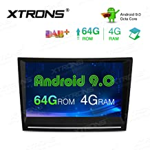 XTRONS 8 Inch Android 9.0 Car Stereo Radio Player Octa Core 4G RAM 64G ROM Double Din GPS Navigation Touch Screen Head Unit Supports WiFi OBD2 DVR TPMS Backup Camera for Porsche 911 Cayman Boxster