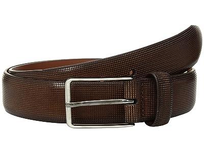 Johnston & Murphy Mini Embossed Belt (Brown) Men