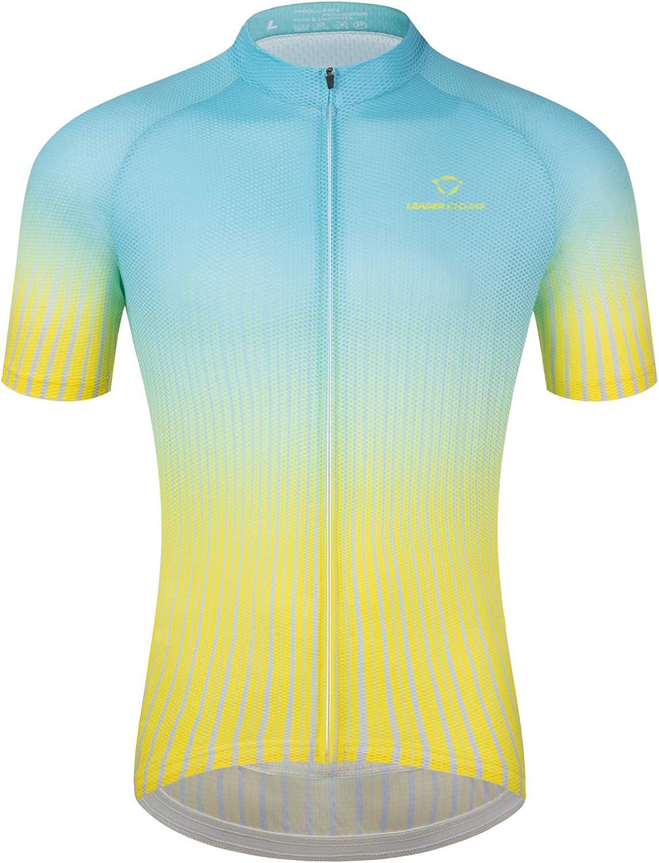 LEADER CYCLING Phoenix Mall Arlington Mall Men's Cycling Jerseys Shirt Quick Dry Biking Summ