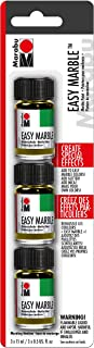 Marabu Easy Marble – Crystal Clear Set of 3 Jars (15ml) of Solvent-Based Paints for Marbling Art and Hydro-Dipping Crafts