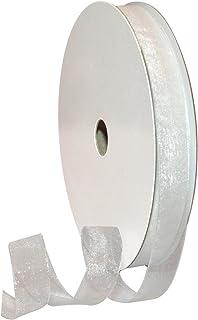 Morex Ribbon Organdy Ribbon, 5/8-Inch by 100-Yard, White
