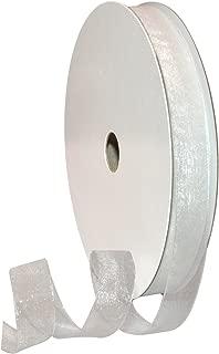 Morex Ribbon 91803/100-601 Organdy Nylon Ribbon, 5/8-Inch by 100-Yard, White