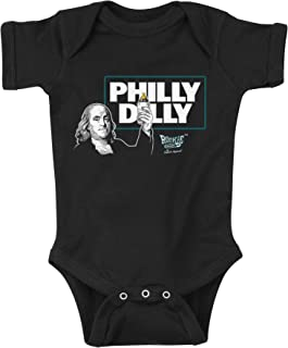 Rookie Wear By Smack Apparel Philadelphia Football Fans. Philly Dilly Black Onesie & Toddler Tee (NB-4T)
