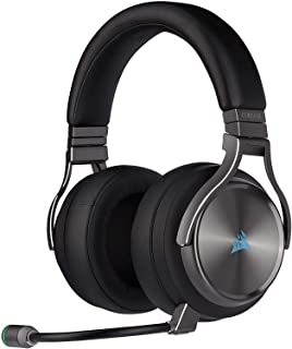 Corsair Virtuoso RGB Wireless SE High-Fidelity Gaming Headset, 7.1 Surround Sound, Broadcast-Grade Omni-Directional Microp...