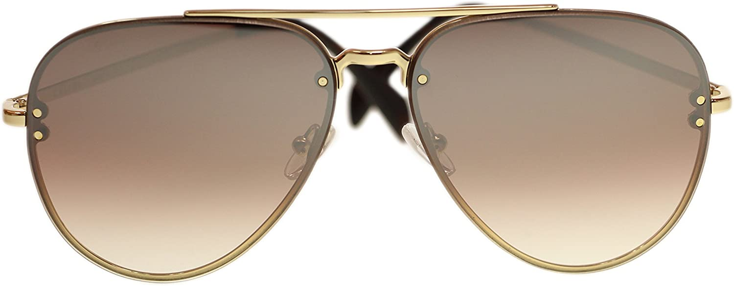 Celine Unisex Sunglasses Cl41392 J5G N5 gold Brown Gradient Silver Aviator 58mm