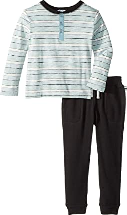 Reverse Stripe Long Sleeve Set (Toddler)