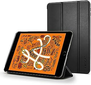 【Spigen】 タブレットケース iPad mini 5 ケース カバー 三つ折 スタンド オートスリープ 機能 高級PUレザー スマートフォールド 051CS26112 (ブラック)