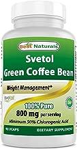 SVETOL® Green Coffee Bean Extract, 400mg, 90 Vegetarian Capsules (400 mg Svetol® per Capsule - The Svetol® Standard Extract Proven in 8 Research Studies)