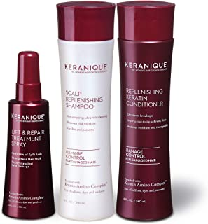 (Damaged Hair) - Keranique Instant Body and Volume 60 Days System with Keratin Amino Complex - includes Shampoo and Condit...