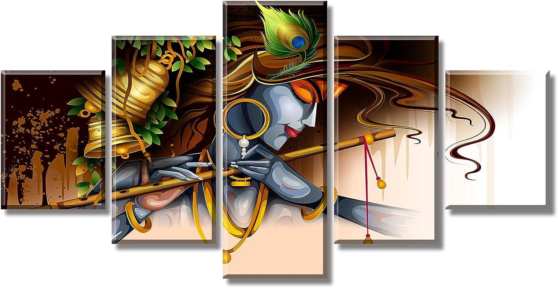 DJSYLIFE Living Room Wall Decor Indian Krishna Pictures Canvas Print Paintings Modern Artwork Home Decor 60