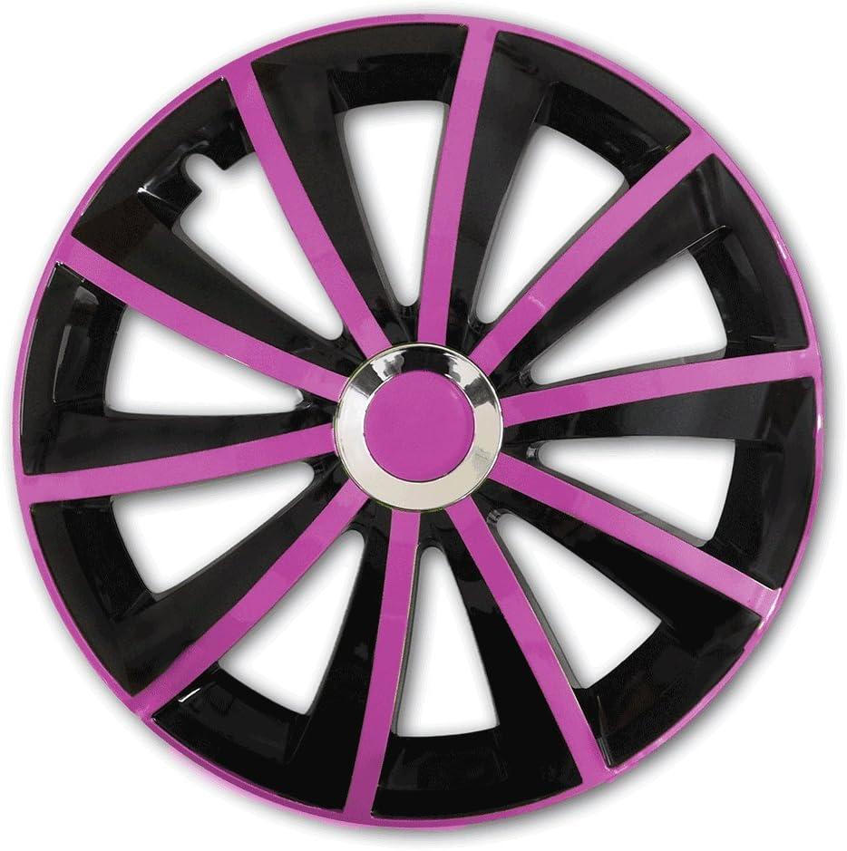 Eight Tec Handelsagentur Farbe Größe Wählbar 16 Zoll Radkappen Gralo Pink Passend Für Fast Alle Fahrzeugtypen Universal Auto