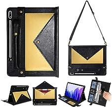 TechCode Galaxy Tab S7 Caso del Tirón, Funda Protectora de Cuero de PU con Soporte para bolígrafo/Ranura para Tarjeta/Band...