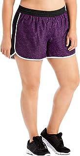 Just My Size Women's Plus Size Active Woven Run Short, Spot on Plum Dream, 3X