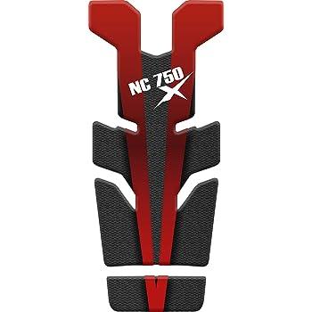 PARASERBATOIO ADESIVO RESINATO EFFETTO 3D compatibile con Honda NC 750 X Carbon//Red NC 750X NC750X