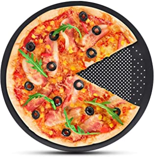 Pizza Baking Sheet, Segarty 15 inch Round Pizza Pan with Holes, Perforated Pizza Crisper Cooking Pan, Steel Pizza Tray for...
