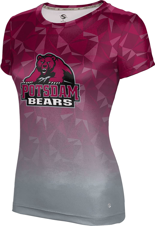 State University of New York at Potsdam Girls' Performance T-Shirt (Maya) F9AA5 Red and Gray
