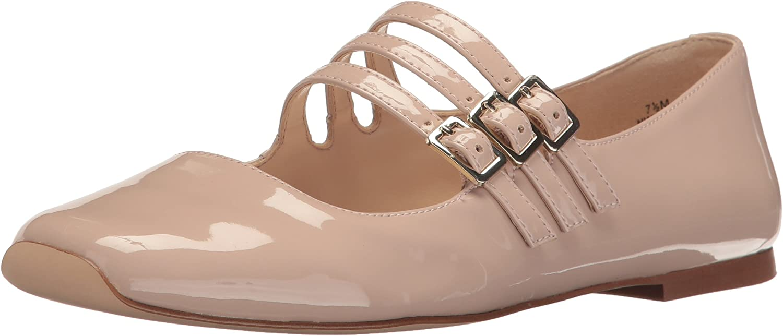 Nine West Womens Zeno Synthetic Ballet Flat