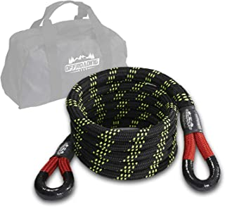"""20'x3/4"""" Kinetic Recovery & Tow Rope, Black (19000 lbs) - for 4x4/Off-Roading/Jeep/Car/SUV/ATV"""