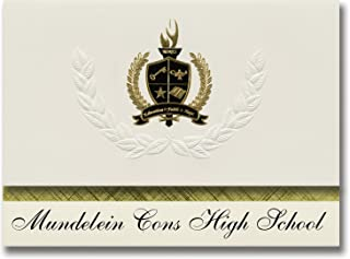 Signature Announcements Mundelein Cons High School (Mundelein, IL) Graduation Announcements, Presidential style, Basic pac...