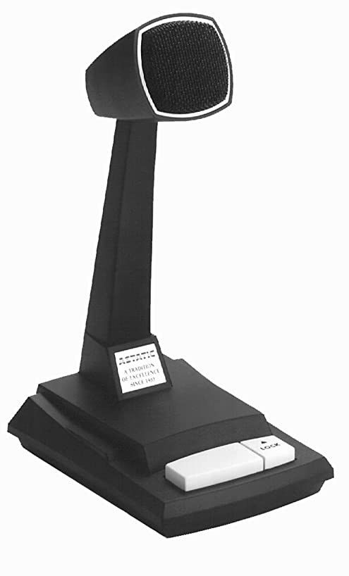 Astatic Omnidirectional Dynamic Desk Top Microphone with Locking Push to Talk Switch