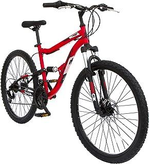 "Spartan 26"" Ridge Mountain Bicycle - MTB Dual Suspension (Red)"