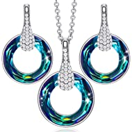 Costume Jewelry Set Thanksgiving Christmas Jewelry Gifts for Women Circle Pendant Necklace Dangle...