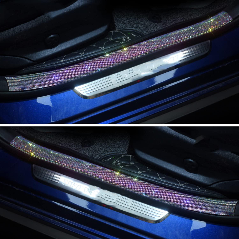 WedFeir Bling Car Max 66% OFF Door Edge Crystal Popular popular Rubber 2pcs Guard Scr