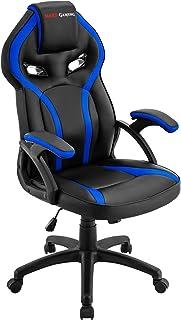 Mars Gaming MGC118BL Sedia Gaming Professionale, Ergonomico, Regolabile, Blu