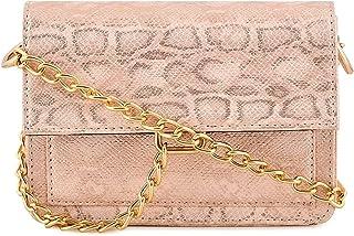 Sakwoods Women Pu Peach Sling Bag