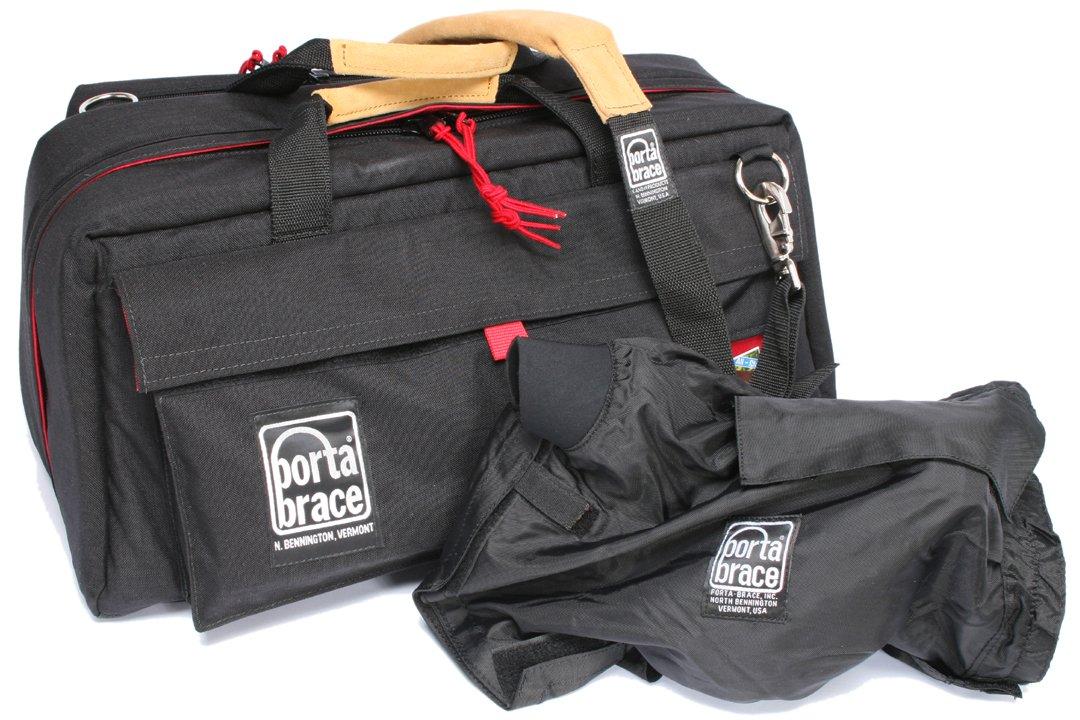 Portabrace CS-DV4RQS-M4ミニDVカメラバッグ(ブラック/レッド)