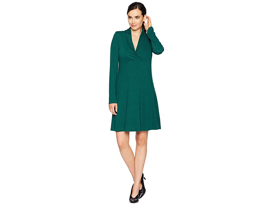 Karen Kane Mock Neck Taylor Dress (Emerald) Women