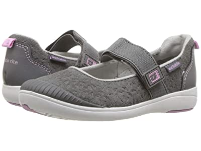 Stride Rite M2P Lia (Toddler) (Grey Leather) Girls Shoes