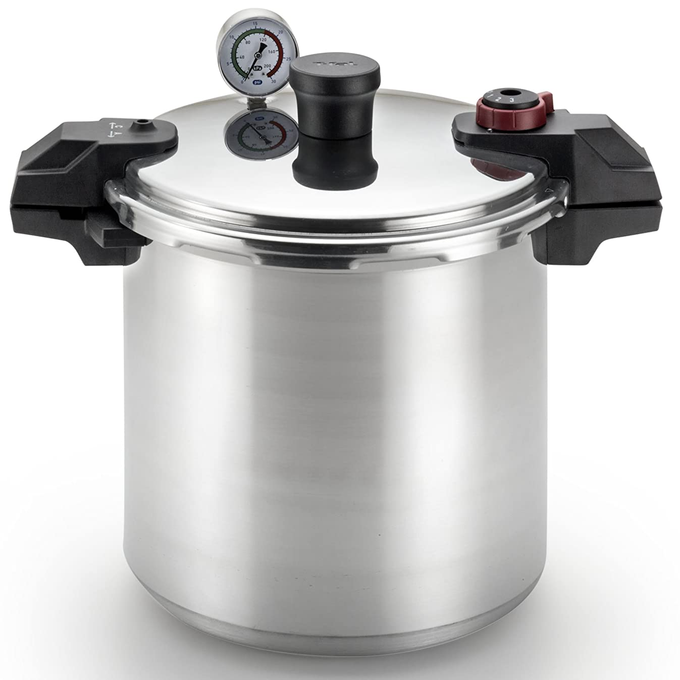 T-fal Pressure Cooker, Pressure Canner with Pressure Control, 3 PSI Settings, 22 Quart, Silver
