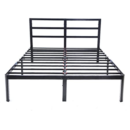 V&LX 14 inch Tall Heavy-Duty Steel Slats/1.0T Steel Frame/V1402/ Head Support/Bed Frame/Platform Bed (Queen)
