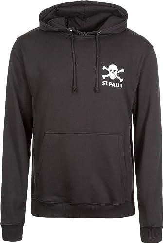 St. Pauli Sweat-Shirt à Capuche Homme Noir XL