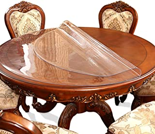 Clear Round Table Protector Tablelcloth Cover Desk Chair Pad Mat for Wooden Furniture Kitchen Coffee Marble End Side /Night Stand Table Countertop Cover Soft Glass Plastic PVC Vinyl Diameter 28''