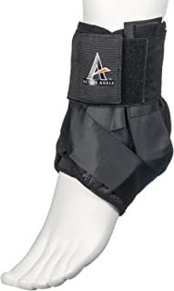 Active Ankle AS1 Pro Lace Up Ankle Brace, Ankle Stabilizer for Protection & Sprain Support for Volleyball, Rugby, Basketball, Braces with Laces to Wear Over Compression Socks or Sleeves, Various Sizes