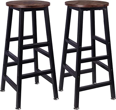 Winsome 29-Inch Square Leg Bar Stool Black 4 Pack