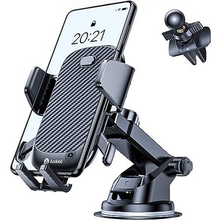 Huhu833 2er Handyhalter f/ürs Auto Immer und /überall 360/°Drehbar Handyhalterung L/üftung Doppelseitiger Saugnapf Halterung Universale KFZ Handyhalterung Smartphone Halterung