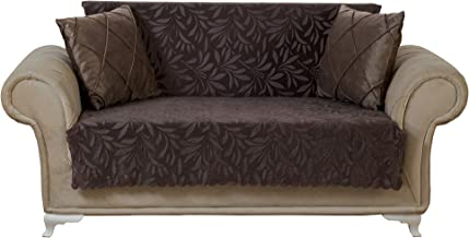 Chiara Rose Couch Covers for Dogs Sofa Cushion Slipcover 3 Seater Furniture Protectors Futon Cover, Loveseat, Acacia Brown