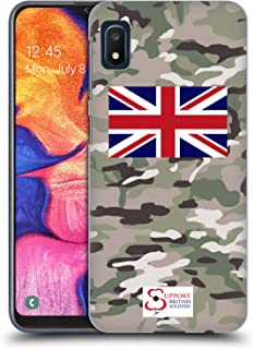 Official Support British Soldiers Multi Terrain Camo Hard Back Case Compatible for Samsung Galaxy A10e (2019)