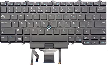 KBR Replacement Keyboard for Dell Latitude E5450 E5470 E7450 E7470 Laptop Part Number PK1313D4B00 With Pointer With Backlight US Layout