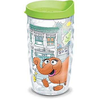 Clear 16 oz Tritan Original Group Insulated Tumbler with Wrap and Orange Lid Tervis 1300736 Sesame Street