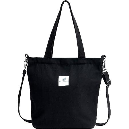 Jiliyote Damen Umhängetasche Groß Canvas Tasche Schulterbeutel Stoffttasche Damen Schultertasche Crossbody bag für Shopper Uni Einkauf