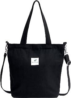 Jiliyote Damen Umhängetasche Groß Canvas Tasche Schulterbeutel Stoffttasche Damen Schultertasche Crossbody bag für Shopper...
