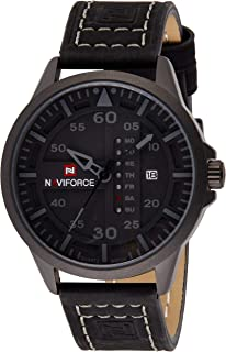 Naviforce Men's Black Dial Stainless Steel Analogue Classic Watch - NF9074-BGYB