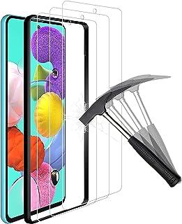 ANEWSIR 3-pack kompatibel med Samsung Galaxy A51 4G/5G skärmskydd, lätt att applicera, tunn, 9H hårdhet, härdat glas skydd...