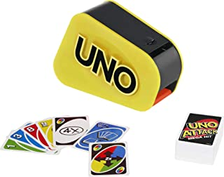 Mattel Games Uno Attack Mega Hit Card Game with Random-Action Launcher with Lights & Sounds & 112 Cards, Kid, Teen & Adult...